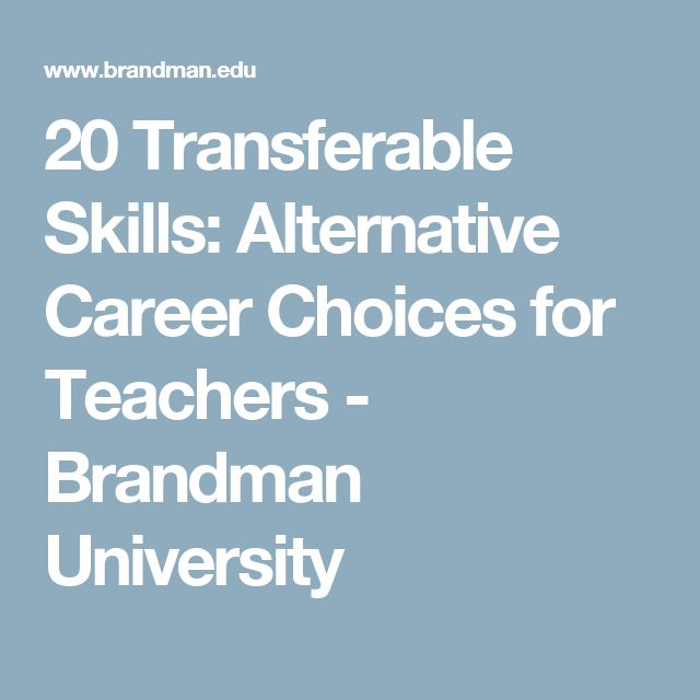 20 transferable skills  alternative career choices for
