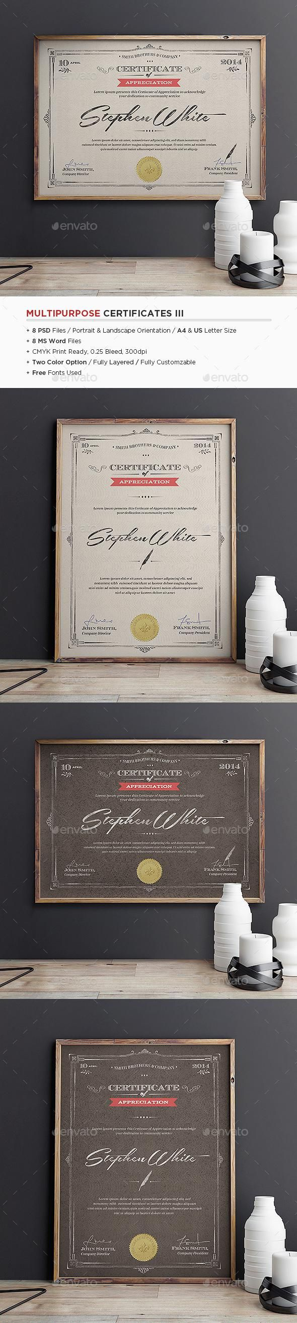 38 best Certificate of Recognition images on Pinterest