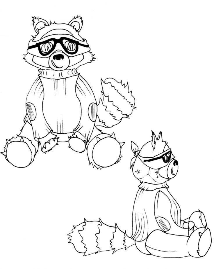 Free Printable Raccoon Coloring Pages For Kids Bear