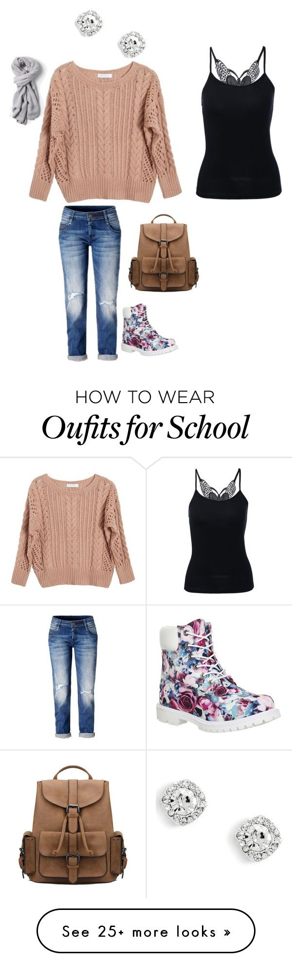 """""""school"""" by baileya0726 on Polyvore featuring Ryan Roche and Timberland"""