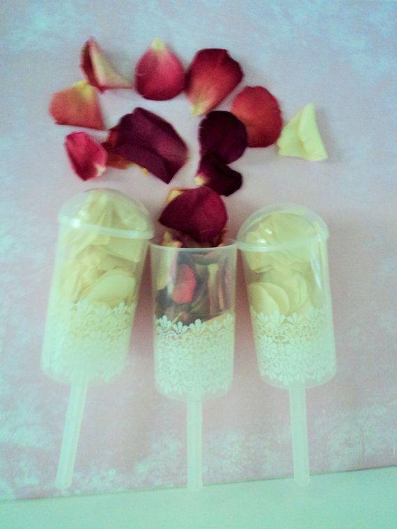 PETAL POPS ecofriendly Rose Petal Confetti Wedding by Flowerfetti