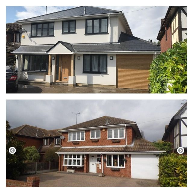 Grey windows/monocouche/ total house makeover