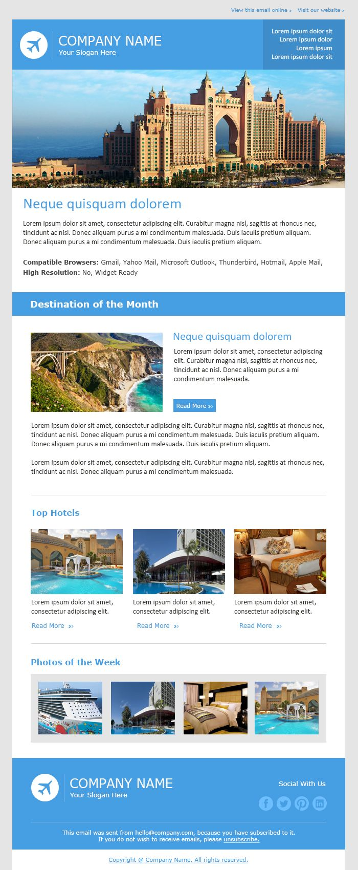 Email Newsletter Examples, Business Email Templates Sample