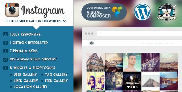 Instagram v.2.1-Photo & Video Gallery WordPress: This innovative WordPress plugin that comes bundled with different type of galleries and its unique capabilities. It gives gives your photo album and video galleries a distinctive and impressive look