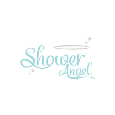 Branding Project for Shower Angel - Papamoa, Tauranga, New Zealand. Case In Point Design Studio | Graphic Design & Illustration Tauranga. Shower cleaning, domestic, logo, modern, clean. clever, blue, duck-egg blue, silver, sparkle, shine, clean, script, hand lettering.