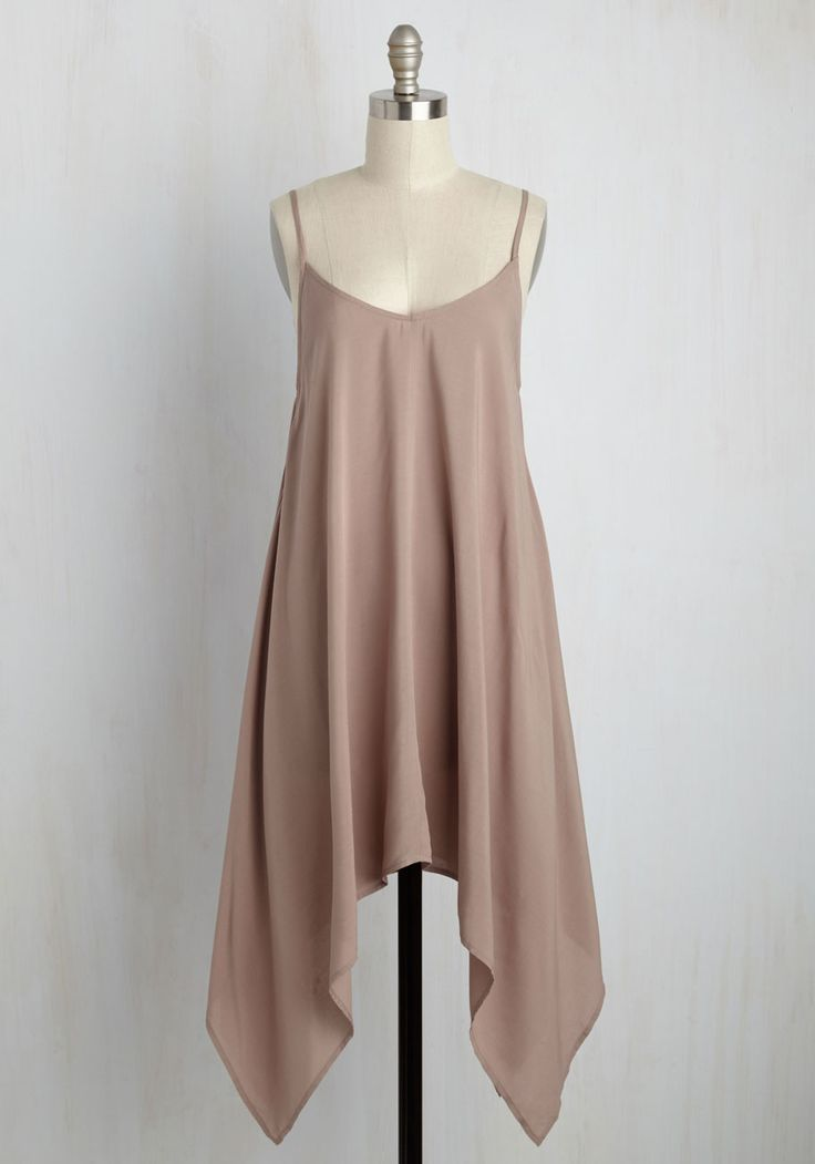 Dauntless Steps Dress. From a confident strut to a well-trained dance routine, this taupe dress achieves perfection any way it's worn! #tan #modcloth