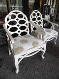 Love these to use as captains chairs w/ farmhouse table and two crazy cool love seats on each side