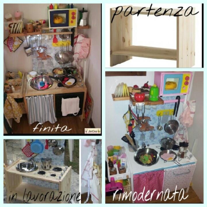 ikea hack jencrea la mia cucina giocattolo realizzata da un comodino ikea anche su mio
