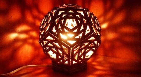 Luminária Feita de Caixa de Papelão Passo a Passo | Reciclagem no Meio Ambiente