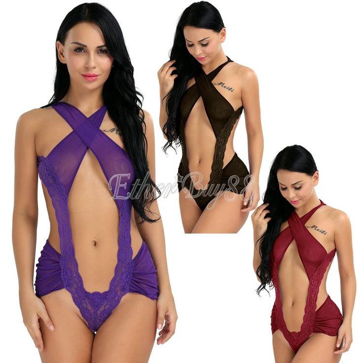 Lingerie-Sleepwear-Lace-Women--Teddy-G-string-Dress-Underwear-Babydoll-Nightwear #Unbranded