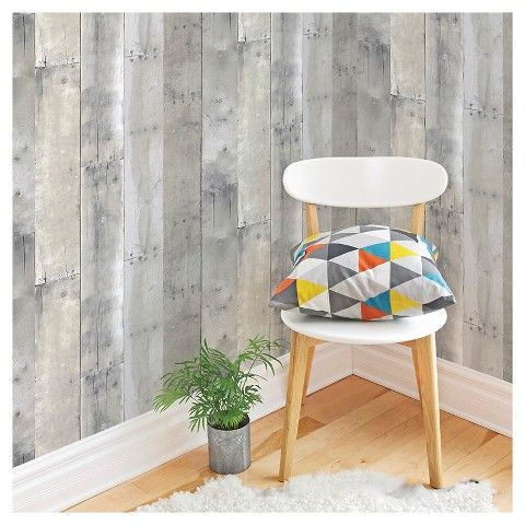 Devine Color Reclaimed Wood Peel & Stick Wallpaper
