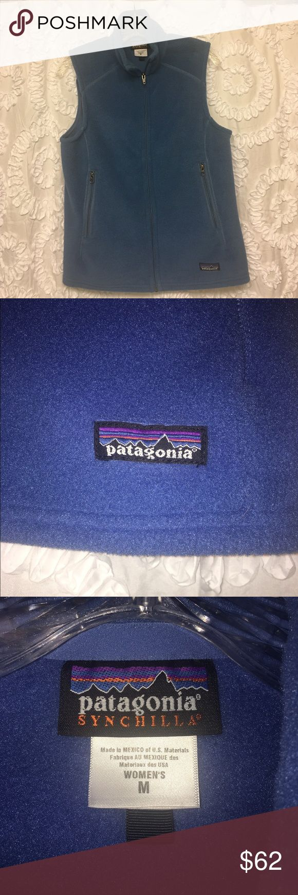 Blue Patagonia Fleece Vest Blue Patagonia fleece vest. Only worn one time and in perfect condition! Women's size medium. Patagonia Jackets & Coats Vests