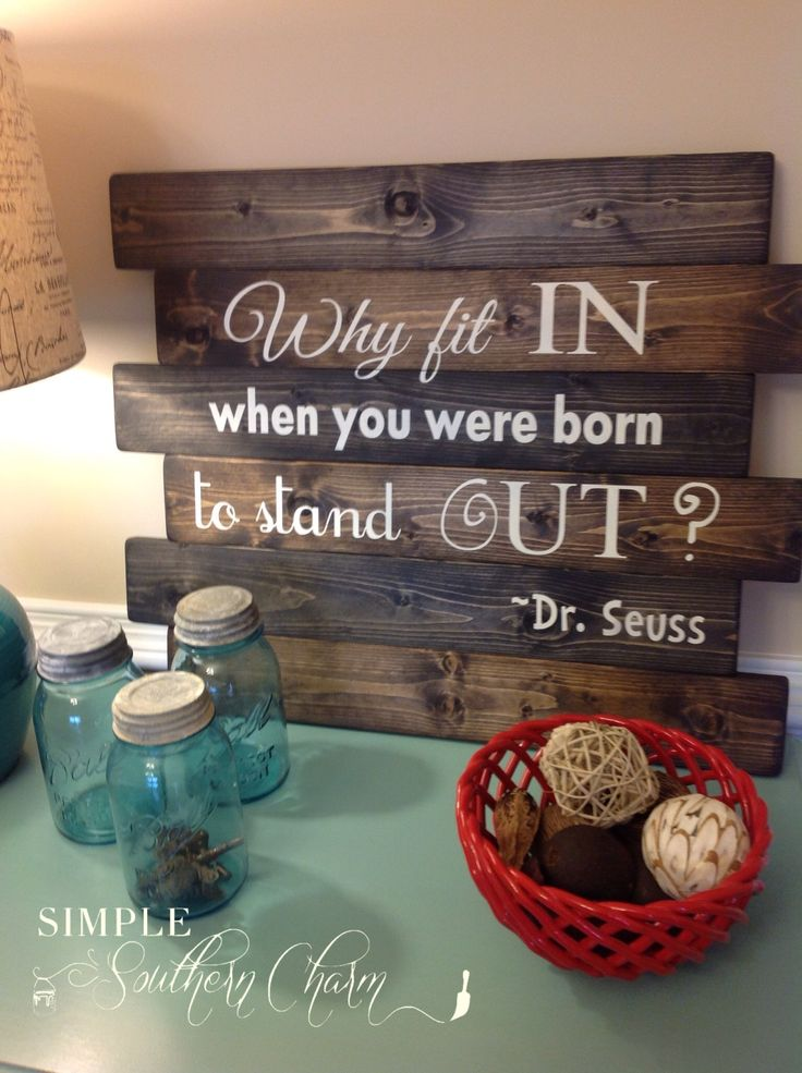 Reclaimed Wood Sign   Simple Southern Charm Dr. suess