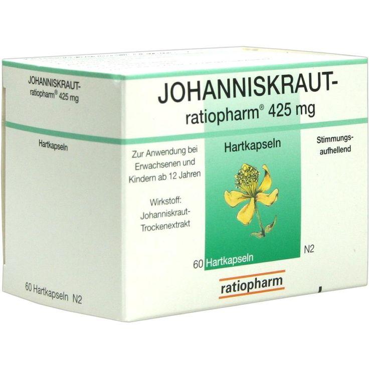 JOHANNISKRAUT RATIOPHARM 425 mg Hartkaps.:   Packungsinhalt: 60 St Kapseln PZN: 00183555 Hersteller: ratiopharm GmbH Preis: 7,36 EUR…