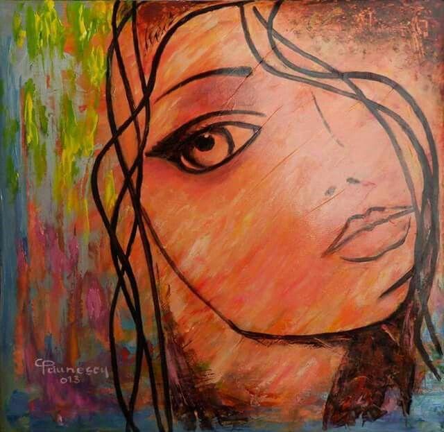 Melancholy -art painting by Constantin Paunescu