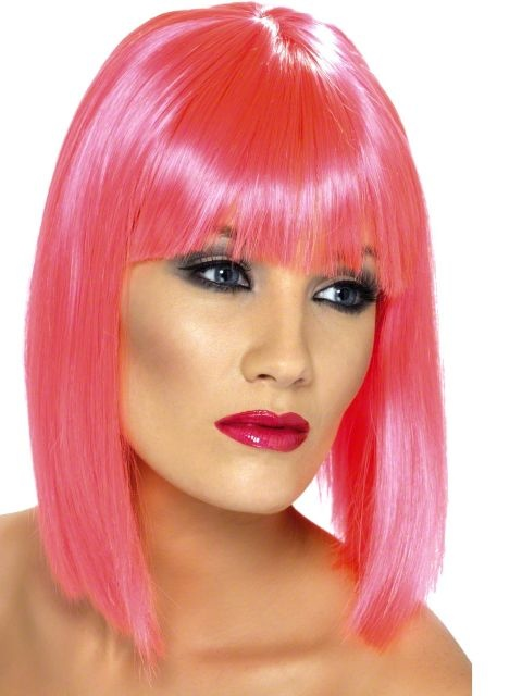 80s glam wig multi-colored adult