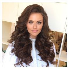 Big hair, long hair, hair down wedding hairstyles, curls, waves,... ❤ liked on Polyvore featuring beauty products, haircare and hair styling tools