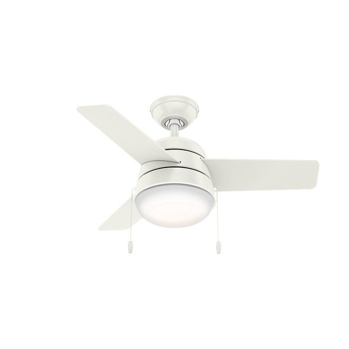 36 Aker 3 Blade Led Standard Ceiling Fan With Pull Chain And Light Kit Included Ceiling Fan Ceiling Fan With Light Fan Light