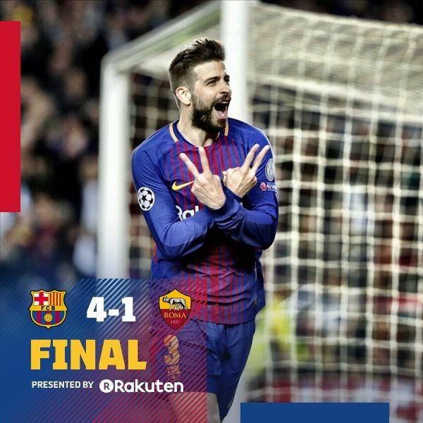 Champions League Fcb V S Roma Fcバルセロナ バルセロナ