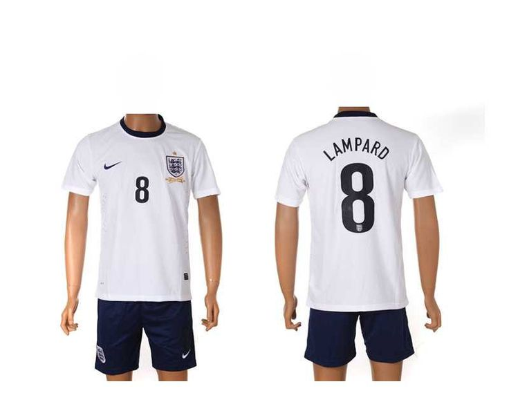 England National Lampard White Soccer Jerseys Home