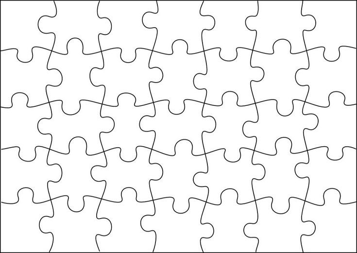 Puzzle template to create your own puzzles (more sizes on site) …