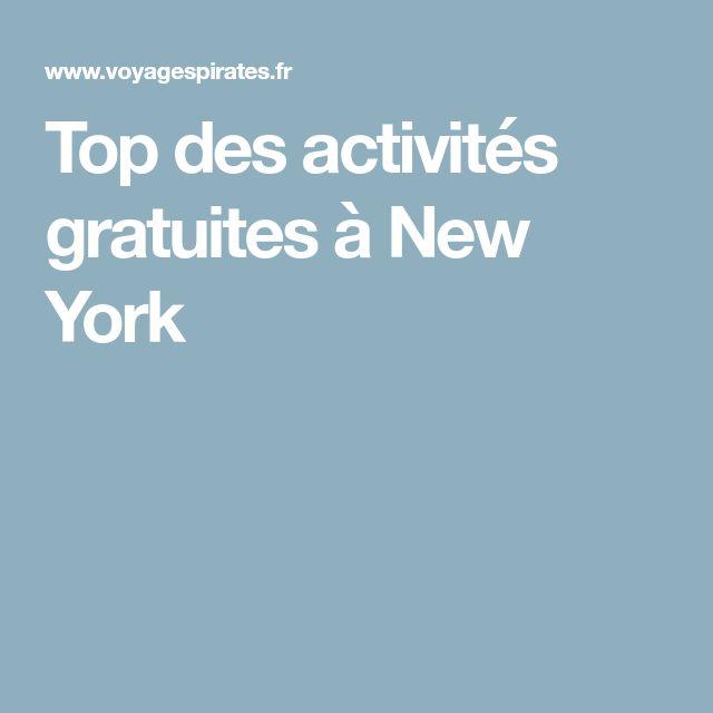 Top des activités gratuites à New York