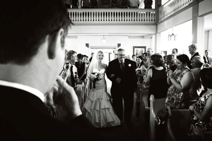 Great perspective - what the groom is seeing!