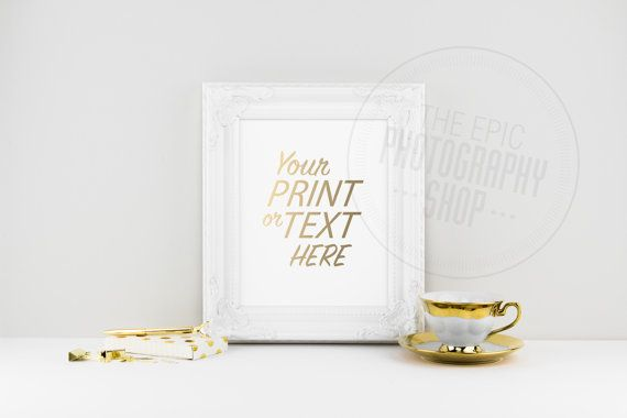 Print Background / Blank Frame / Styled Stock Photography / Product Photography / Staged Photography / Product Background / Gold / OR006