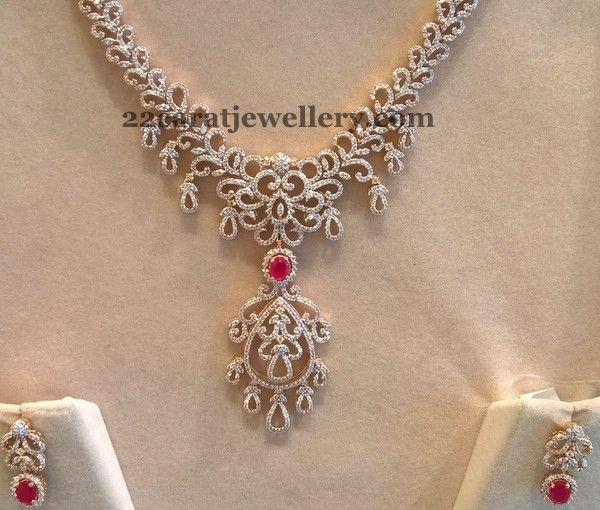 Medium Size Diamond Haram 5 Lakhs Only