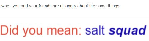 """For a second I thought this was talking about supernatural, and how they..... U know, """"make salt circles"""""""