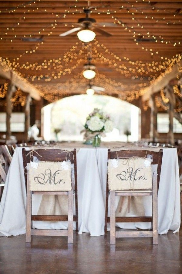 Country Rustic Barn Wedding Chair Decor / http://www.deerpearlflowers.com/country-rustic-wedding-ideas-and-themes/