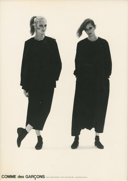 Minimalist Fashion Design: Japanese designers Yohji Yamamoto, Issey Miyake and Rei Kawakubo of Comme des Garçons make gender ambiguous, minimalist, anti-fashion statements in the 1980s.