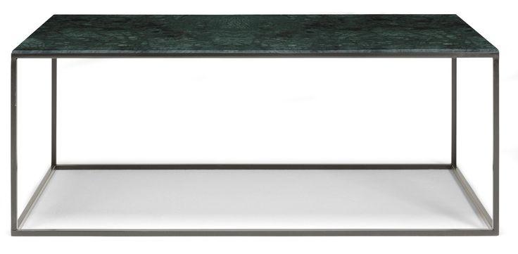 Bord Stone i vit, grön eller svart marmor och svartlackat underrede är ett lyxigt, trendigt och stabilt soffbord i marmor som kommer ge ditt vardagsrum ett riktigt lyft.