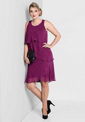 Kleid mit Volants -  - SHEEGO STYLE