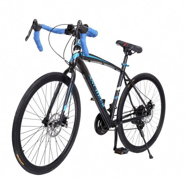 Ancheer Mountain Bike New 700c Aluminum Fixed Gear Road Bicycle