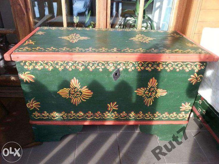 Skrzynia drewniana XIXw. Oryginalna, po renowacji (5812738743) - Allegro.pl - Więcej niż aukcje.