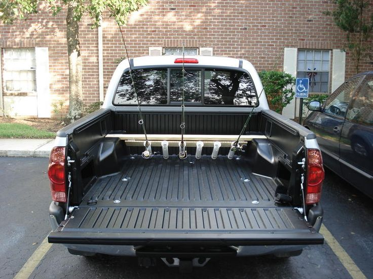 1000 images about pvc holders for pickup trucks on for Fishing pole rack for truck