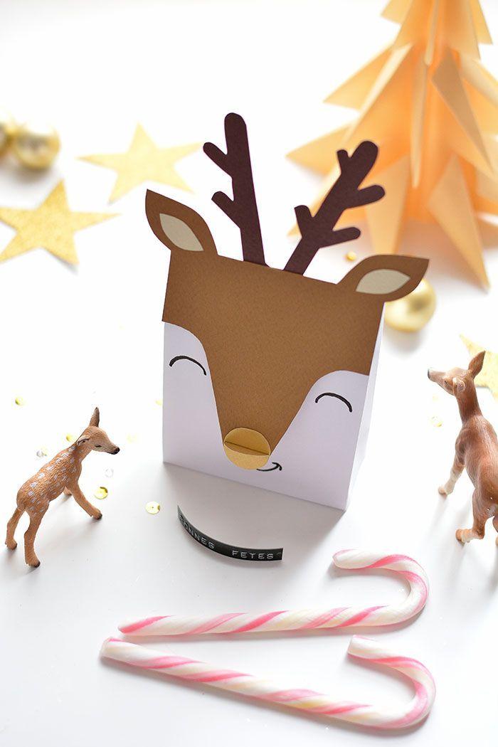 – CHRISTMAS DECO – Kleine Hirschboxen – Weihnachten & weißer Winter – # Box   – Lenoel