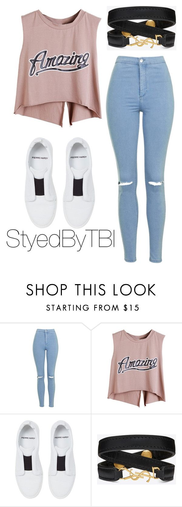 """""""Untitled #401"""" by styledbytbi on Polyvore featuring Topshop, Pierre Hardy and Yves Saint Laurent"""