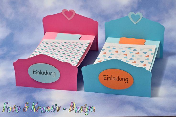 Einladungskarten - Übernachtungsparty - Einladung Set / 2Stk. - ein Designerstück von Foto-und-Kreativ-Design bei DaWanda
