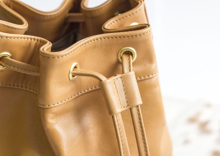 BOHO bucket leather bag designed by Annamaria Pap