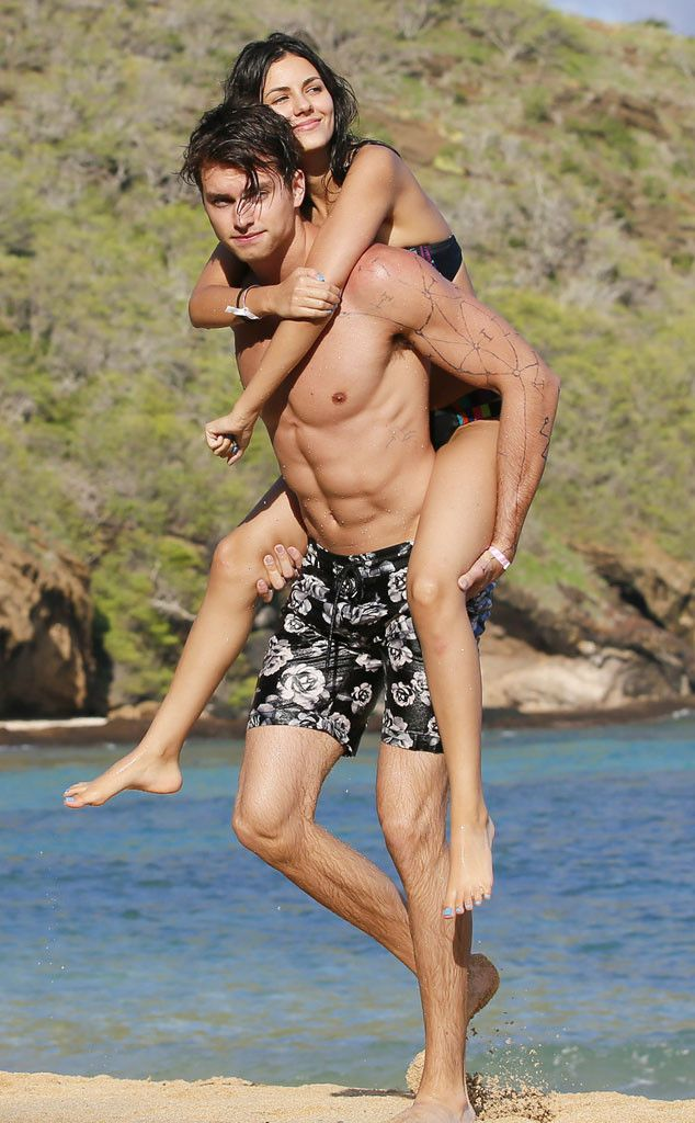 Bikini-Clad Victoria Justice Packs on the PDA With Her Boyfriend Pierson Fodé | E! Online Mobile