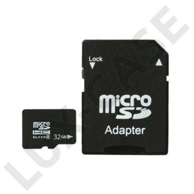32GB MicroSDHC Minnekort w/ SD Adapter - GRATIS FRAKT!