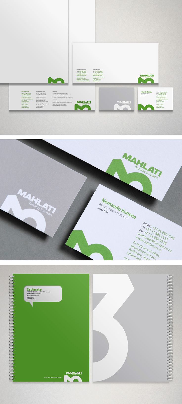 Mahlati corporate identity design - Wondering about the W x H of that business card...