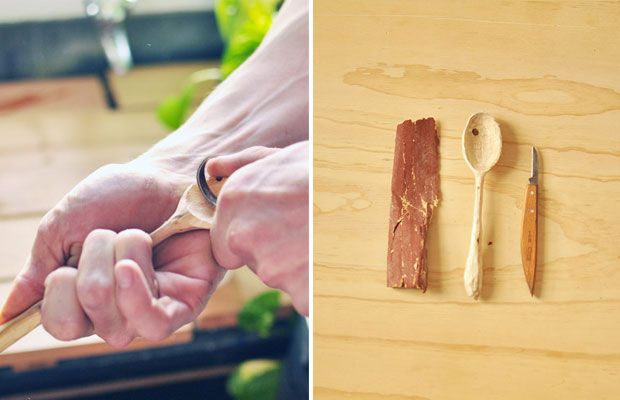 How to carve a spoon