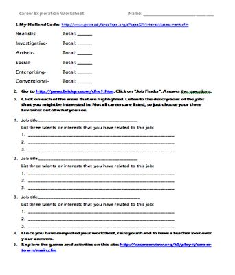 Printables Career Exploration Worksheet 1000 images about career exploration on pinterest lesson plans the inspired counselor upper elementary unit webquest with links to worksheet