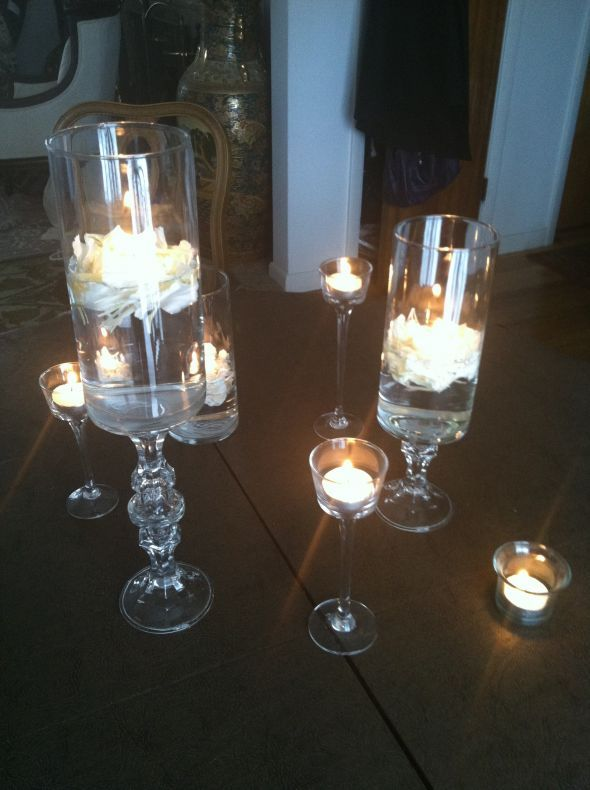 Found on Weddingbee.com Share your inspiration today!  http://www.dollartree.com/party-supplies/New-Year-s-Party-Supplies/Crystal-Cylinder-Vase/207c395c395p9889/index.pro?method=search  http://www.dollartree.com/floral-decor/Wholesale-Bulk-Candles-Holders-Votives/Long-Stem-Glass-Tealight-Candleholders/202c205c205p331127/index.pro  http://www.dollartree.com/Glass-Taper-Candleholders/p65171/index.pro