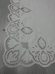 Resultado de imagen para nurten kuşçu cutwork embroidery tablecloth - embroidery - nakış - delik işi nakış - beyaz iş nakış