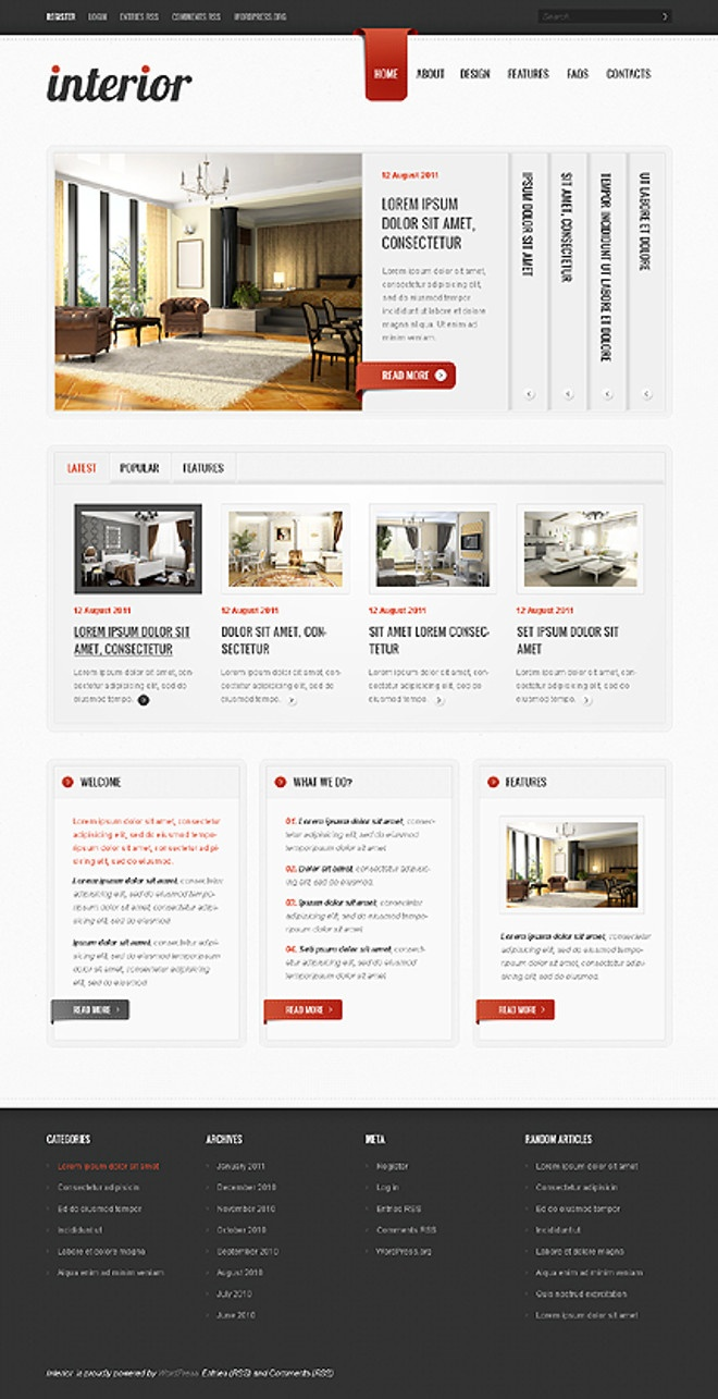 For Sale Website Template Interior Design Portfolio 68