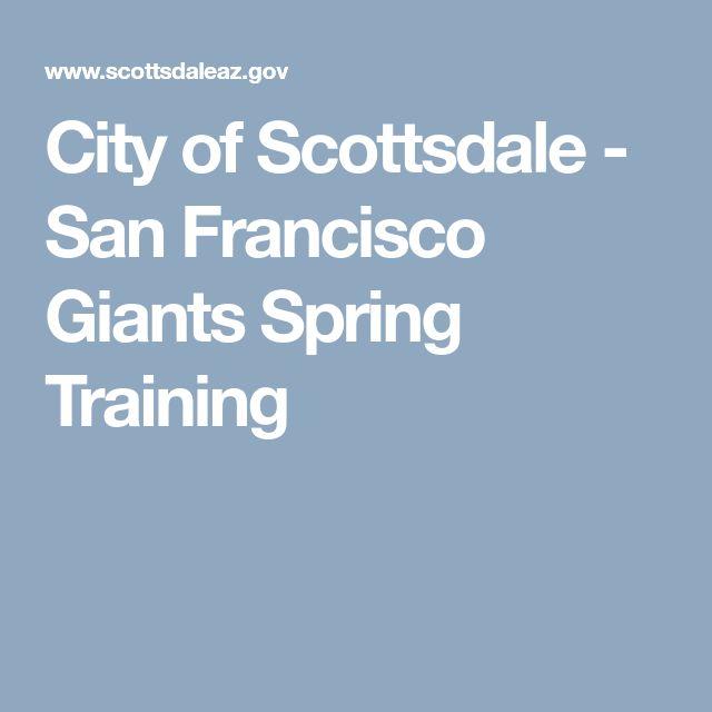 City of Scottsdale - San Francisco Giants Spring Training